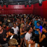 Crowd in the red box @ We Love Space (Space, Ibiza)
